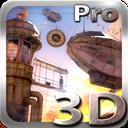 Steampunk 3D travel icon